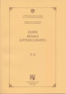 Quaderni della Sezione di Glottologia e Linguistica
